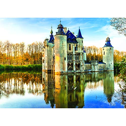 1000 Piece Jigsaw Puzzle - Fairytale Medieval Castle - 27.5 x 19.5 Inch x 2 mm Thick - Puzzle for Adults and Children 12 and Older. Entertaining and Challenging Puzzle for Hours of Family Fun.