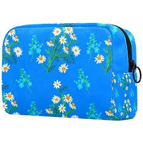 Trousse de toilette portable pour femme avec poignée de chrysanthèmes