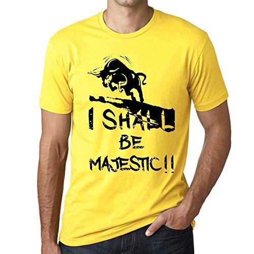 I Shall Be Majestic Hombre Camiseta Amarillo Regalo De Cumpleaños