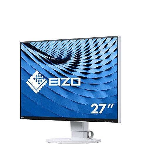 EIZO FlexScan EV2780-WT 68,5 cm (27 Zoll) Ultra-Slim Monitor (HDMI, USB 3.1 Hub, USB 3.1 Typ C, DisplayPort, 5 ms Reaktionszeit, Auflösung 2560 x 1440) weiß
