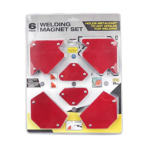 KKmoon Squadra Magnetica Posizionatore per Triangolazione con Saldatura Magnetica Senza Interruttore Accessori per Saldatura Multi Specifica 6PCS