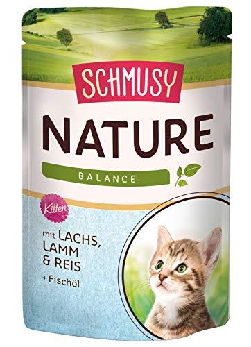 Schmusy kattenvoering Nature Balance voor kitten met zalm 100 g, verpakking van 24 (24 x 100 g)