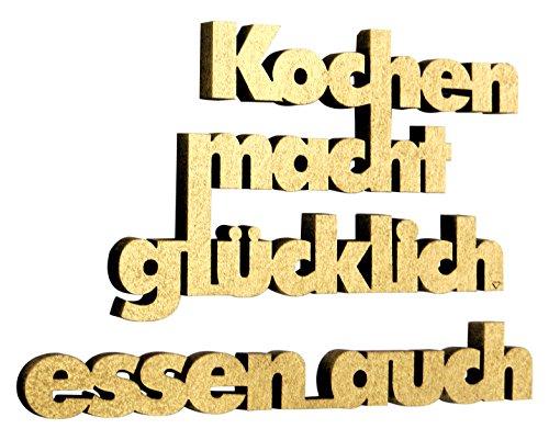 NOGALLERY 3D Schriftzug, Holz, Gold
