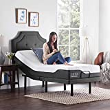 LUCID L300 Adjustable Bed Basewith LUCID 12 Inch Memory Foam Hybrid Mattress-Twin XL