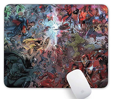 Mouse Pad DC and Marvel Art Gaming Funny Customized Cute Rubber Mousepad Laptop MouseMat for Desk