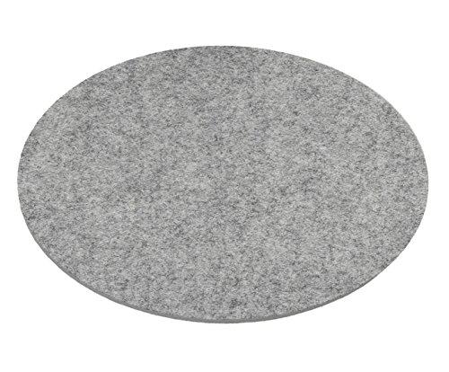 ESTA-Design Filz Topfuntersetzer Untersetzer Glasuntersetzer rund Woll Filz 3mm hell grau meliert (Ø 20 cm)