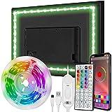 Zethot LED Rétroéclairage TV 3,5 m / 11,5 ft TV LED Strip pour TV 40-65 pouces PC, miroir avec télécommande 44 touches et contrôle APP RGB 5050 DIY couleurs TV LED Musique Sync