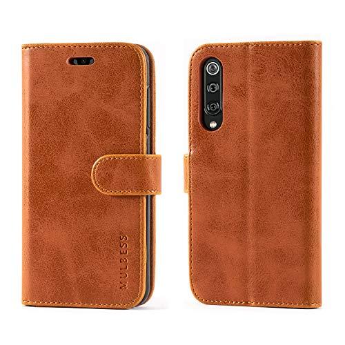 Mulbess Flip Tasche Handyhülle für Xiaomi Mi 9 SE Hülle Leder, Xiaomi Mi 9 SE Klapphülle, Xiaomi Mi 9 SE Handy Hülle, Schutzhülle für Xiaomi Mi 9 SE Handytasche, Braun