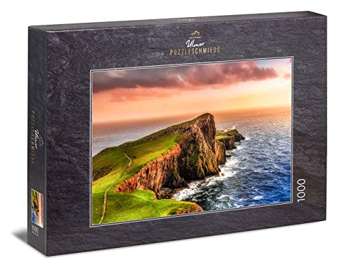Ulmer Puzzleschmiede - Puzzle Skye - Puzzle 1000 Pezzi - Neist Point con Faro sull'isola Scozzese di Skye