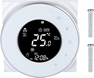 LZKW Energy Saving IP20 Dustproof WiFi Thermostat, Timing Programming Remote Control Thermostat, for Home Hotel