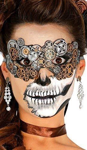 Fancy Me Damen Steampunk West Viktorianisch Erfinder Maskerade Karneval Halloween Kostüm Kleid Outfit Zubehör Augen Maske