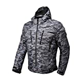 Motorcycle Camo Riding Jacket,All Seasons Waterproof Removable CE Armored Anti-impact Thermal Motorbike Jacket