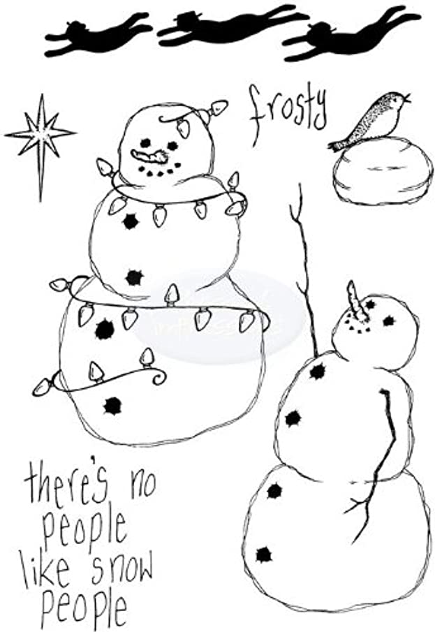 Lindsay Mason Clear Stamps - Flying Snowmen for Personal Impressions - CICSA6106