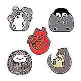 Lindo Pin esmaltado personalizado Chinchilla Hedgehog Nutria Pingüino Dragón Insignia Broche Pin de solapa personalizado Camisa Bolsa Regalo de joyería para niños, Conjunto