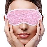 Schlaf Augen Maske für Frauen Mann,Gel Korn Eisbeutel mit weicher Plüsch,heiße kalte Therapie für geschwollene Augen,dunkle Kreise,Kopfschmerzen,Migräne,Druck-Entlastung[Rosa]