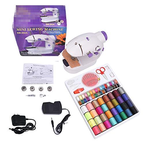 STKJ Máquina De Coser Eléctrica, Kit De Herramientas De Costura Esenciales Multifunción, Juego De Caja De Costura para Coser