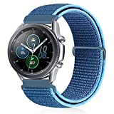 XFYELE 22mm Quick Release Watch Band Compatible with Samsung Galaxy Watch 3 45mm/Galaxy Watch 46mm/ Gear S3 Frontier, Nylon Breathable Replacement Sport Strap(Ocean Blue, 22mm)