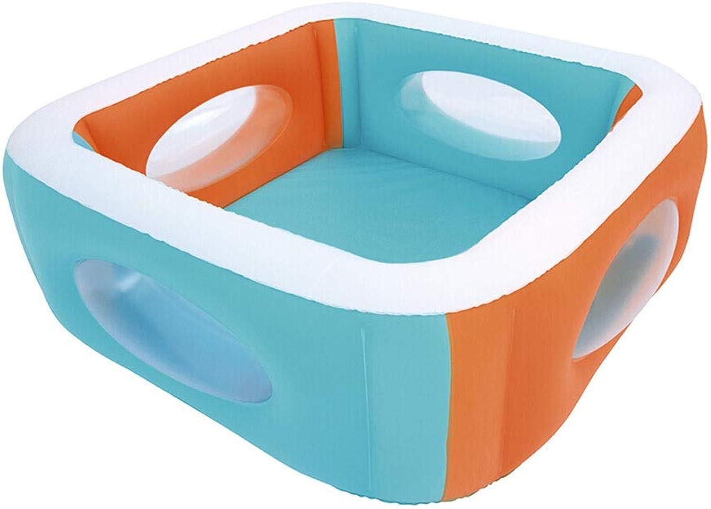 LYM & aufblasbarer Pool Kinderbecken Faltbares aufblasbares Bad Pool aufblasbar