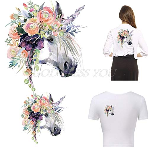 Mccng - Iron Sticker Transfer - Clothes Iron On Appliques Heat Transfer Stickers Diy Printing Horse Patches Ship - Jam Iron Shirt Iron Best Cloth T Iron Sticker Transfer Dental Steam Horse Iron Pat