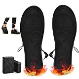 RTDEP Heated Insoles for Women and Men Battery Powered Rechargeable Cuttable Heated Insoles Foot...