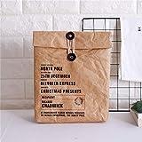 X de laboratorio Almuerzo aislada Bag Bolsa de papel Pan Funda respetuoso con el medio ambiente reutilizables Oficina Almuerzo Bolsa Térmica Alimentos transporte Almuerzo Tote Bolsa Braun-2