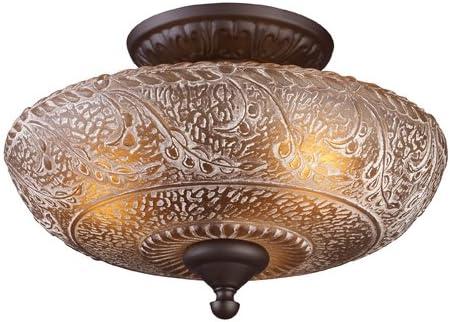 popular Elk 66191-3 Norwich 3-Light Semi-Flush Mount, Oiled lowest Bronze, 9-1/2-Inch H outlet online sale By 14-Inch W sale