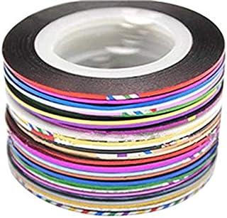 ネイルアート用 ラインテープ シート ジェルネイル用 マニキュア セット ジェルネイル アート用ラインテープ 専用ケース 38色セット