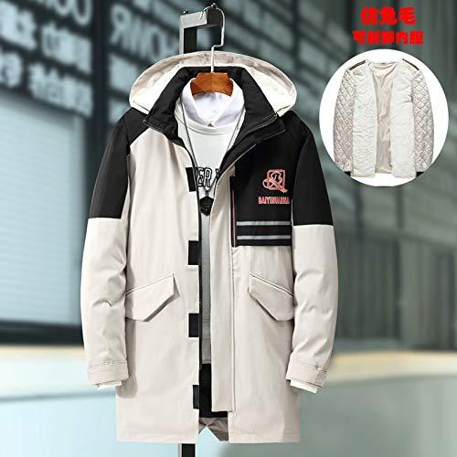 LMSDALAO Chaquetas de Invierno 7XL 8XL 9XL Plus Men's Winter Hat and Lining Removable Jacket Waterproof Thick Warm Jacket