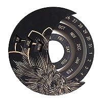 MERIGLARE サークルカレンダー木製永遠の永久壁掛け工芸品 - 黒