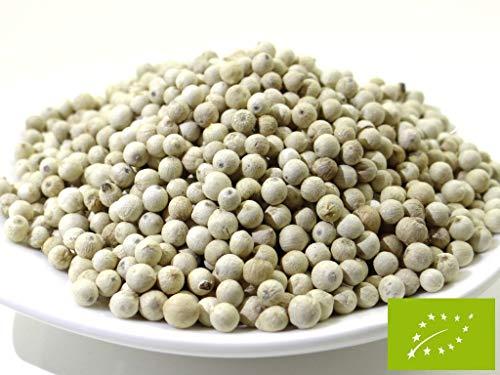 pikantum Bio Pfeffer weiß ganz | 160g | weiße Pfefferkörner