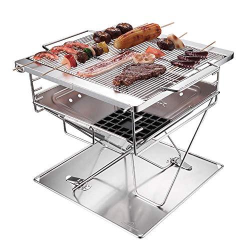 Hochwertiger Grill Barbecue Grill, beweglicher Durable Edelstahl Barbecue Grill im Freien Startseite Picknick Geschirr for 1-2 Personen