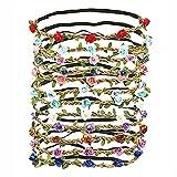 LATRAT - 12 diademas de flores para mujer, niña, accesorios para el pelo (12 colores aleatorios)