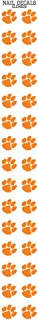 Clemson University Nail Sticker Decals