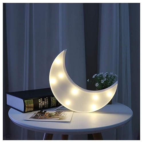 Vimlits Lovely Moon LED Night Lights Warm White 8 LED Lights For Kids  Children Sweet Nursery