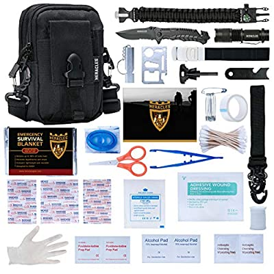 HERACLES 110 in 1 Emergency Survival Kit, First Aid Kit, Survival Gear, Survival Kit, Emergency Kit, Tactical Gear, Zombie Survival Kit, MOLLE Gear, EDC Gear, Earthquake Survival Kit, Camping, Hiking by HERACLES