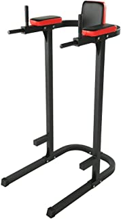 Barryblue Fitness Vertical Knee Raise Dip Exercise Workout Station Strength Training Power Rack Pull Up Stand Power Tower