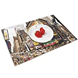 Manteles Individuales Nueva York Agosto, Mantel Individual Antideslizante Resistente Al Calor Salvamanteles Juego De 4 para La Mesa De Comedor De Cocina, 45x30 Cm