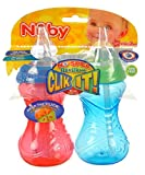 Nuby CLICK-IT No-Spill Flexi-Straw Cup - 10 oz - 2 ct