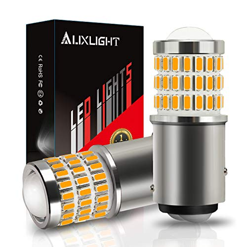 AUXLIGHT 2057 1157 2357 7528 2057A 1157A 2357A LED Bulbs Amber Yellow, Ultra Bright 57-SMD LED Replacement for Blinker Lights, Turn Signal/Parking or Running Lights, Brake/Tail Lights (Pack of 2)