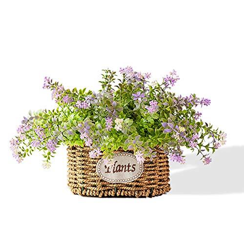 Nieuwe rui cheng kunstplanten, nep planten plastic mini plant echte plant bloemen met pot 3 Pack set Indoor groene Bonsai voor thuis badkamer keuken bureau tuin levensdecoratie