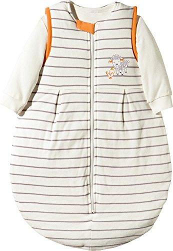 Coconette Schlafsack 2-tlg. Interlock-Jersey natur/aprikot Streifen Größe 50/56