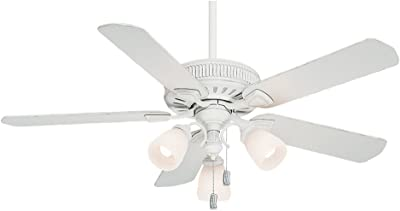 Casablanca Indoor Ceiling Fan, with pull chain control - Ainsworth 54 inch, White, 54005