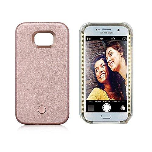 Vanjunn Selfie Led Light Case for Samsung S8 Plus- for Samsung Galaxy S8 Plus Illuminated LED Light Up Case Rose Gold