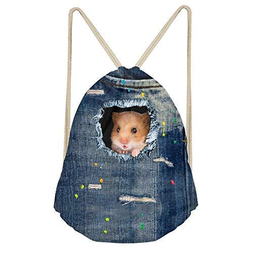 Showudesigns - Mochila de viaje para niños, diseño vaquero, color negro, color hamster, tamaño medium