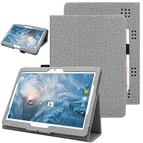 Nevigat Dragon Touch K10 10.1, Victbing 10, WECOOL 10 Inch Tablet, ZONKO 10.1, Mirzebo Android Tablet 10 Inch, Yuntab K17, Kivors 10.1, LLLCCORP 10 超薄 軽量 保護カバー (Grey)