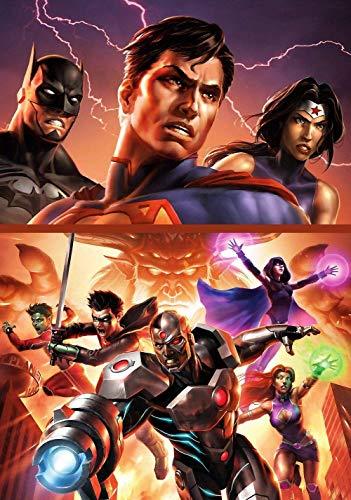 WYFCL 1000 Rätsel, Rätsel für Erwachsene und Kinder-Justice League Vs. Titans Movie Poster-Incredible Challenge Games, kooperative Spiele für die ganze Familie