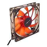 UNYKAch 51792 Carcasa del Ordenador Ventilador - Ventilador de PC (Carcasa del Ordenador, Ventilador, 12 cm, 1200 RPM, 19 dB, Rojo)