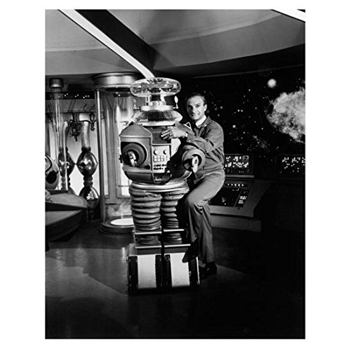 Lost in Space (1965) 8 x 10 Photo Jonathan Harris Getting Chummy w/Robot kn