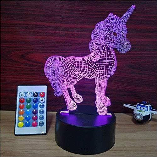 Nachtlichter Einhorn 3D visuelle Illusion Licht transparent Nachtlicht LED-Licht 7 Farbwechsel Touch Tischlampe Kinder Lava Lampe Nachttischlampe
