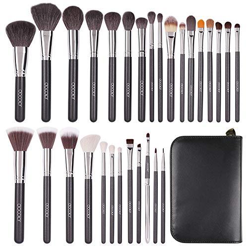 Lot de 29 pinceaux de maquillage professionnels Kabuki pour fond de teint, blending, poudre pour le visage, rouge anti-cernes, fard à paupières